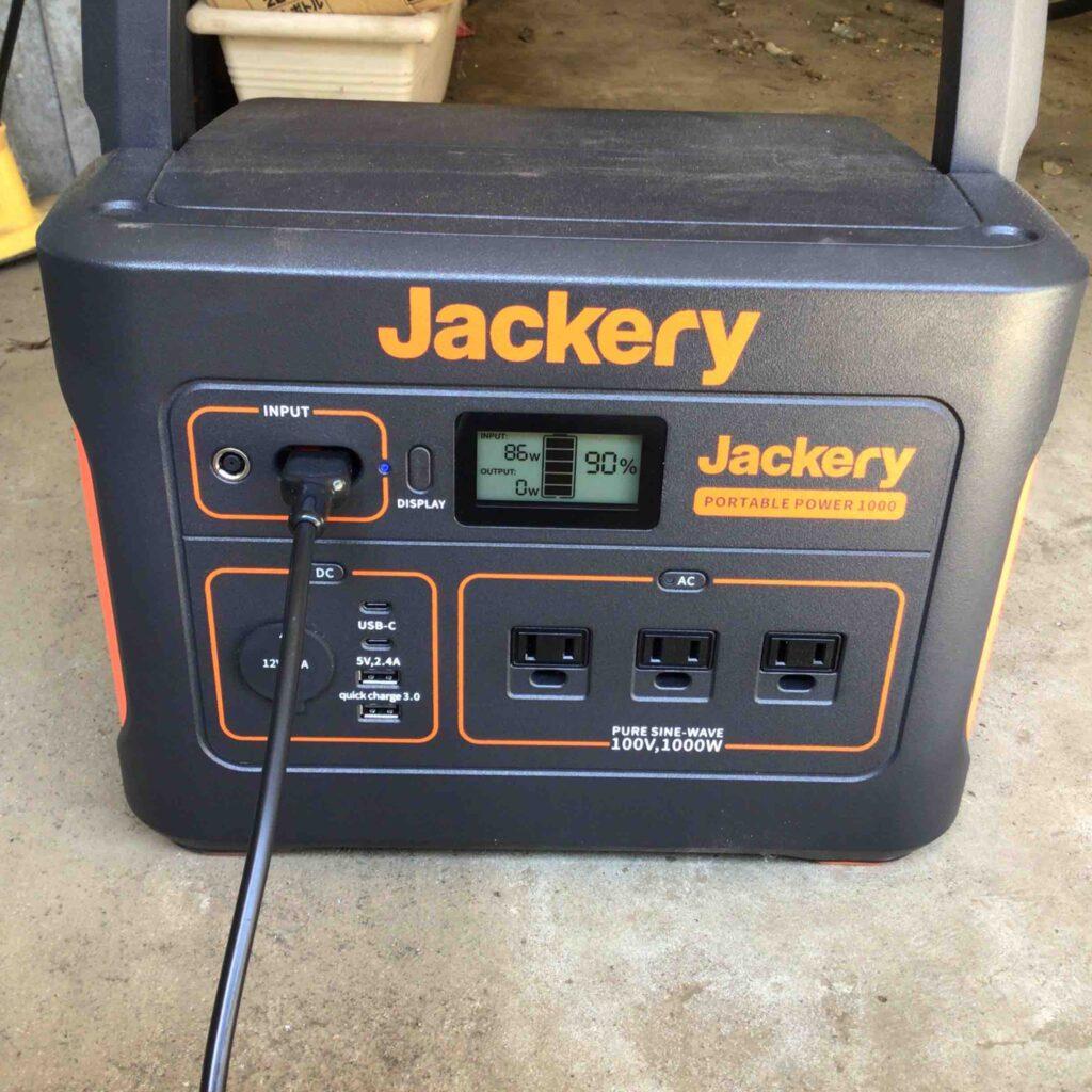 jackeryポータブル電源 レビュー用画像