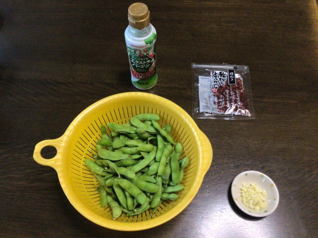 枝豆炒めの材料