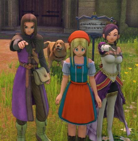 ドラクエ11Sの勇者とエマとマルティナ